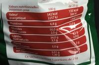 Chips saveur Bolognaise - Voedingswaarden - fr