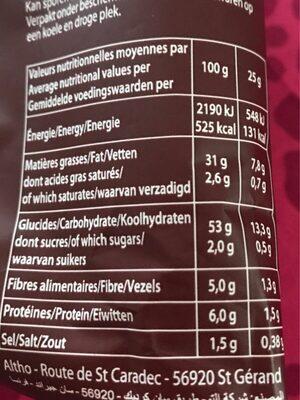 Chips Saveur Poulet Braise 6 Sachets - Informations nutritionnelles - fr