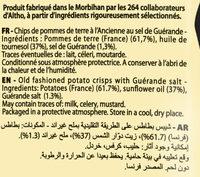 Chips A L'ancienne Sel De Guerande 125G Brets - Ingredients