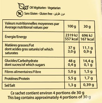 Chips A L'ancienne Sel De Guerande 125G Brets - Nutrition facts