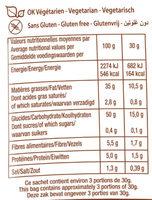La Chips Bio au sel de guérande - Informations nutritionnelles - fr