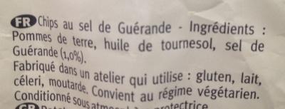 Chips au sel de Guérande - Ingrédients