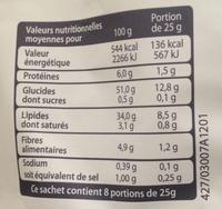 Chips au sel de Guérande - Informations nutritionnelles