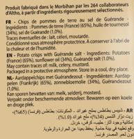 Chips Natures Classiques Bret's - Ingrediënten