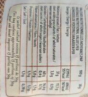 Les natures à l'Ancienne - Informations nutritionnelles - fr