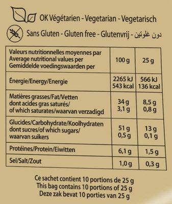 Les natures craquantes (format XL) - Informations nutritionnelles - fr