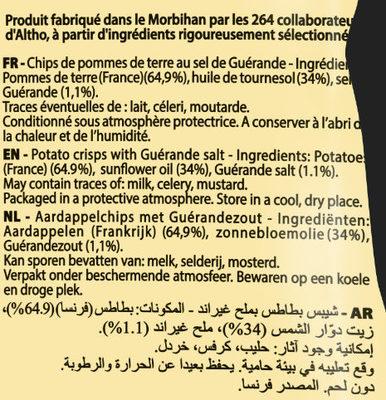 Chips natures paysannes Bret's Au sel de Guérande - Ingrédients - fr