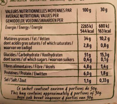 Chips natures paysannes Bret's Au sel de Guérande - Informations nutritionnelles - fr