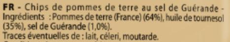 Les Natures Paysannes au Sel De Guérande (format XL +20% gratuit) - Ingrédients - fr