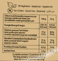 Les Natures Paysannes au Sel De Guérande (format XL +20% gratuit) - Informations nutritionnelles - fr