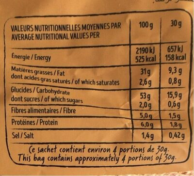 Chips (Petits oignons) - Nutrition facts - fr