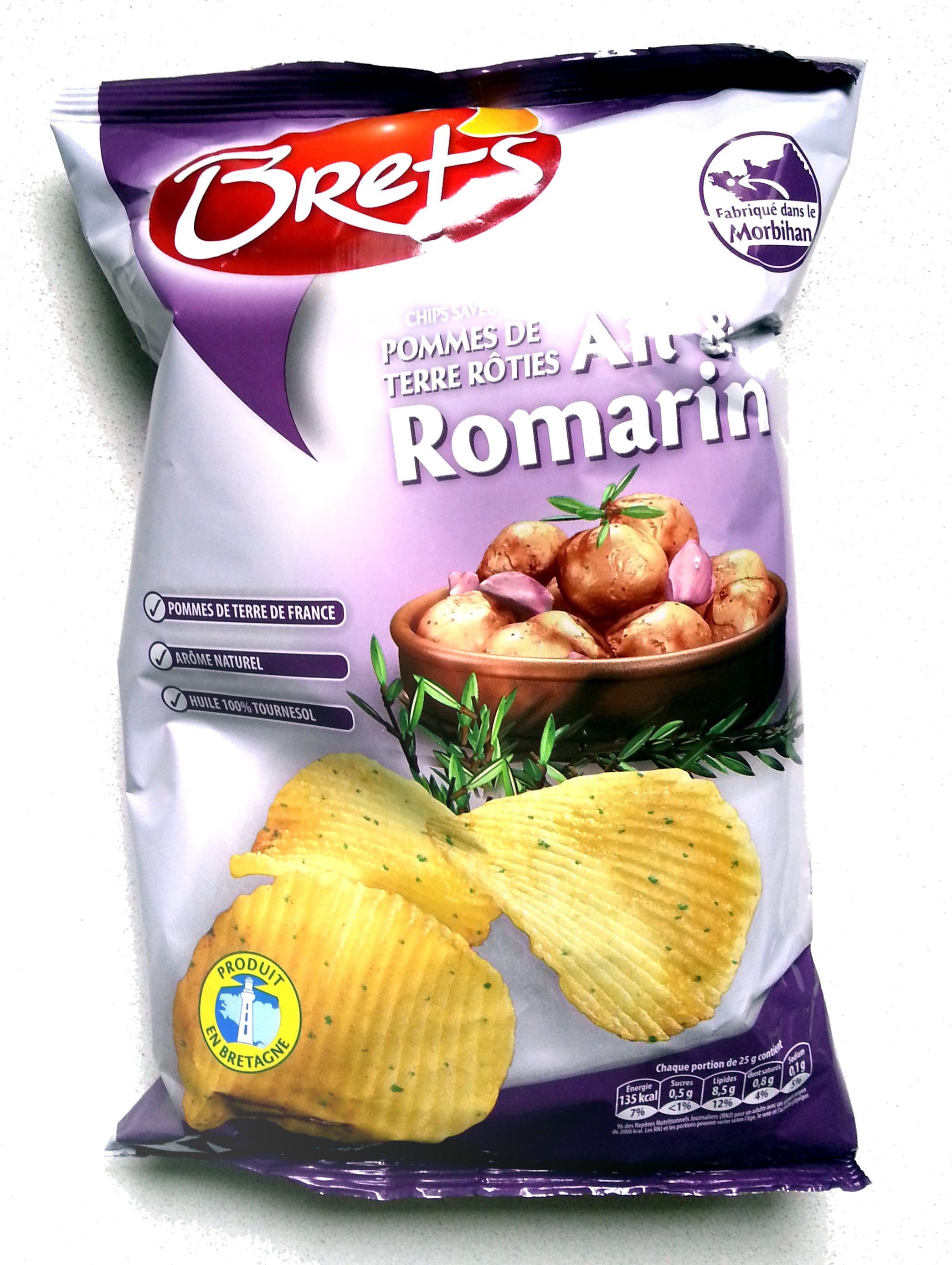 Chips pommes de terre rôties Ail & Romarin - Produit - fr
