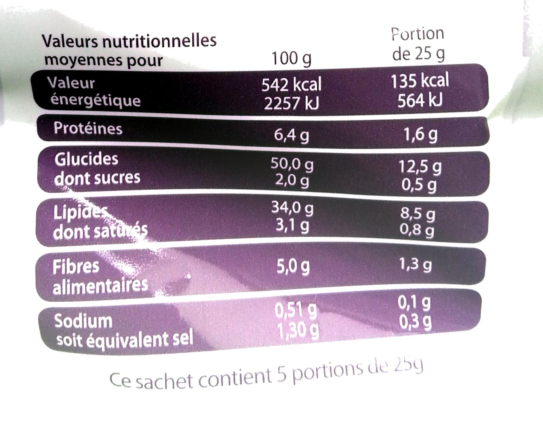 Chips pommes de terre rôties Ail & Romarin - Informations nutritionnelles - fr