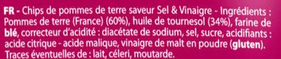 Saveur sel & vinaigre (format XL +10% gratuit) - Ingrédients