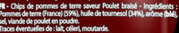 Saveur Poulet Braisé (2+1 gratuit) - Ingrédients - fr