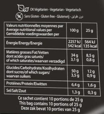 Saveur Sauce Barbecue (format XL) - Informations nutritionnelles