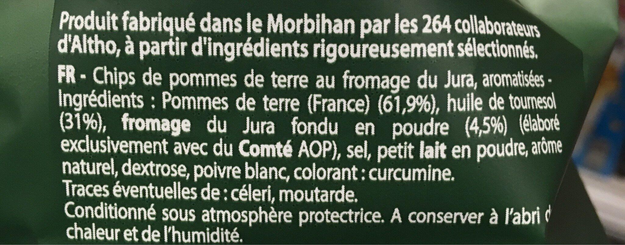 Chips au fromage du Jura - Ingrédients