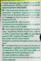 Chips Bret's saveur Chèvre & Piment d'Espelette - Ingrédients - fr
