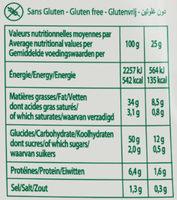 Chips Bret's saveur Chèvre & Piment d'Espelette - Informations nutritionnelles - fr