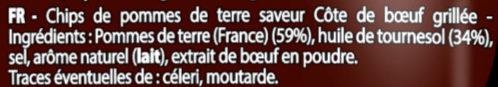 Côte de bœuf grillée (+10% gratuit, lot de 2) - Ingrédients - fr