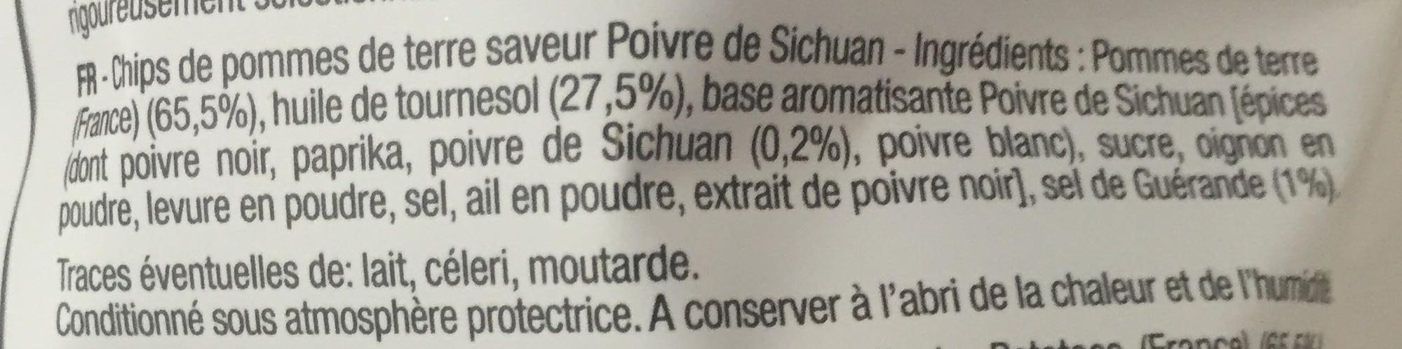 Chips Bret's saveur Poivre de Sichuan - Ingrédients - fr