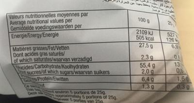 Chips Bret's saveur Poivre de Sichuan - Informations nutritionnelles - fr