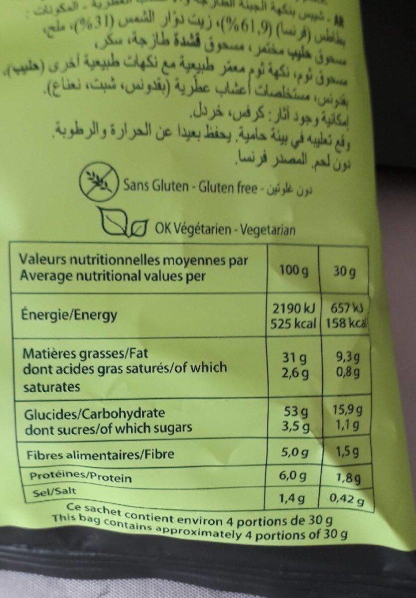 Chips saveur Fromage frais fines herbes - Informations nutritionnelles - fr