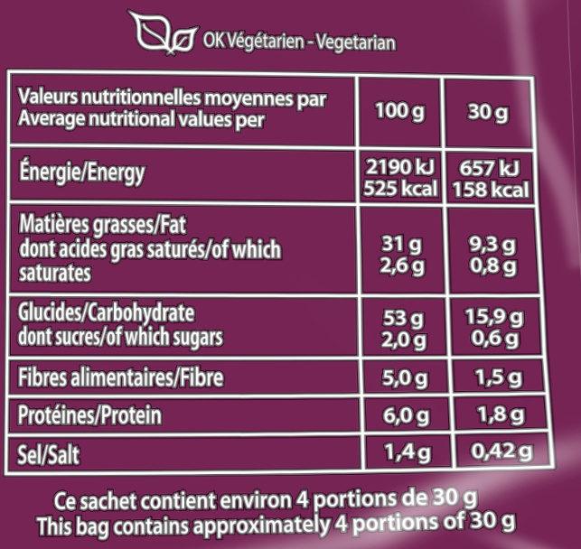 Chips de pomme de terre saveur Tapenade - Informations nutritionnelles - fr