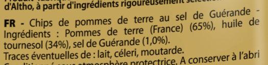 Chips de pommes de terre Classique - Ingrédients - fr