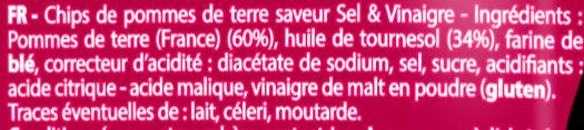 Saveur Sel & Vinaigre - Ingrédients - fr