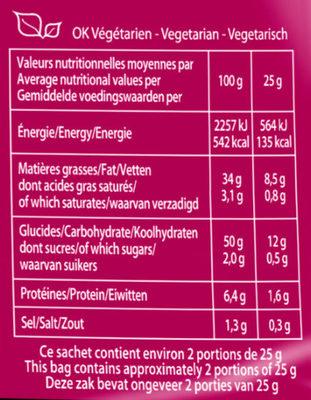 Saveur Sel & Vinaigre - Informations nutritionnelles