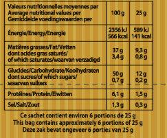Chips au sel de Guérande - Recette à l'ancienne - Voedingswaarden