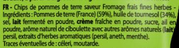 Brets fromage frais fines herbes - Ingrédients - fr