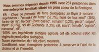 La Chips Bio Thym Romarin - Ingredienti - fr