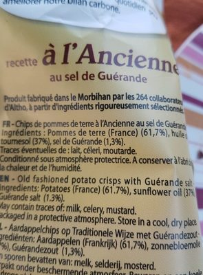 Recette à l'ancienne - Ingrédients - fr