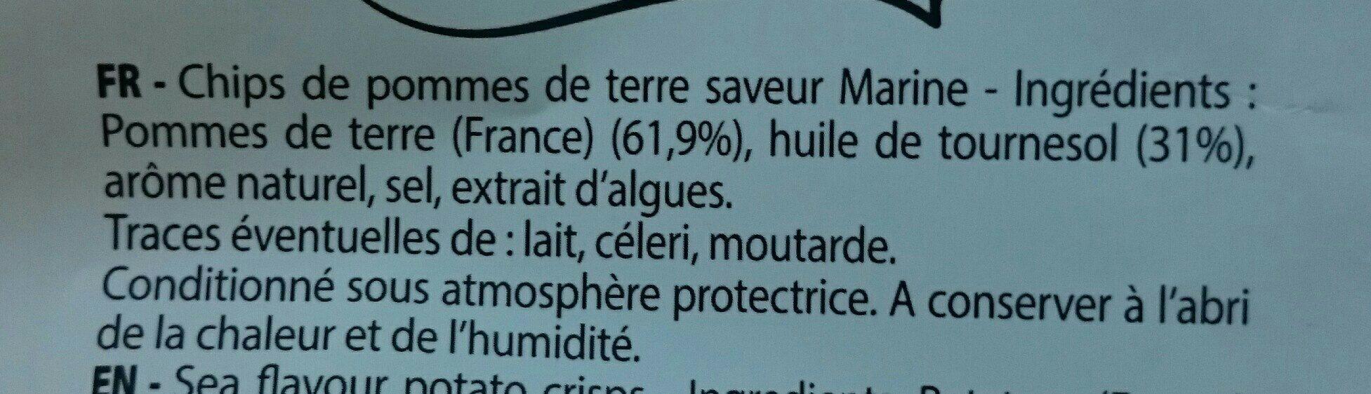 La chips originale française - Ingrédients