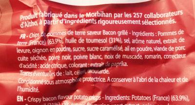 Saveur bacon grillé - Ingrediënten - fr