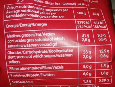Saveur bacon grillé - Voedingswaarden - fr