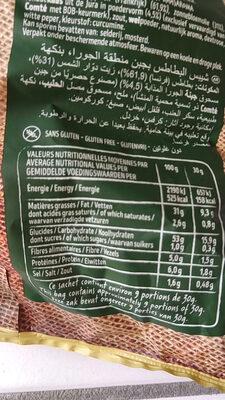 Au fromage du jura - Nutrition facts - fr