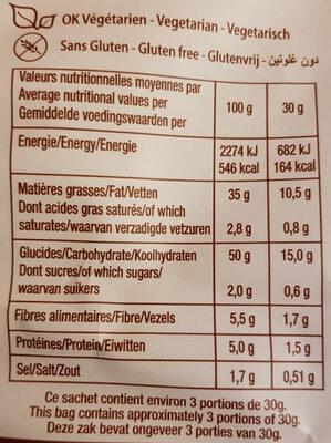 La Chips Bio 100% Baies Roses & Poivre - Nutrition facts - fr