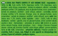 Les Petits Cakes aux Fruits - Ingrédients - fr