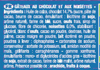 Le Mini Brownie Chocolat Noisettes x8 - Ingredients