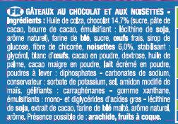 Le Mini Brownie Chocolat Noisettes x8 - Ingrédients - fr