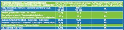 Le Mini Brownie Chocolat Noisettes x8 - Nutrition facts