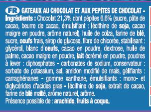 LE BROWNIE POCKET CHOCO PEPITES - Ingredienti - fr