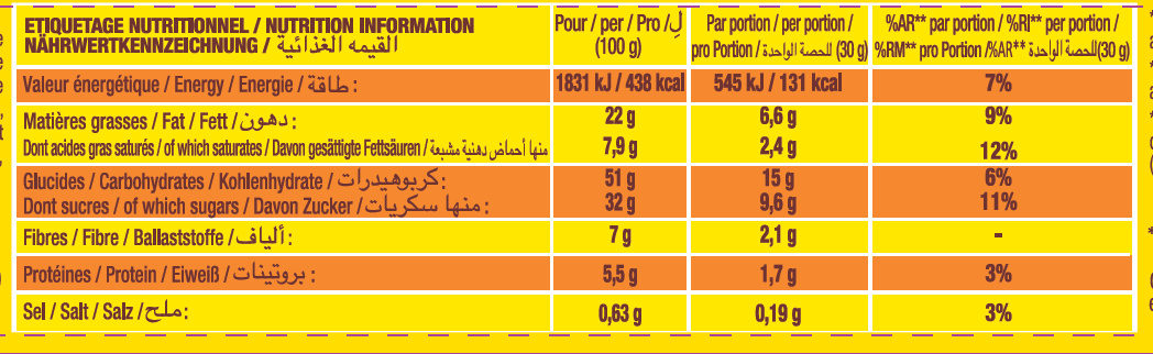 Savane Pépit' - Nutrition facts - fr