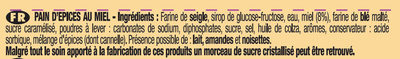 Le Pain d'Epices au Miel - Ingrédients - fr