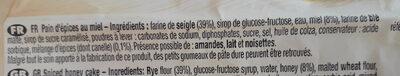 LE PAIN D'ÉPICES AU MIEL - Ingrédients - fr