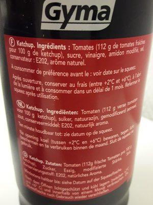 Ketchup - Ingrediënten