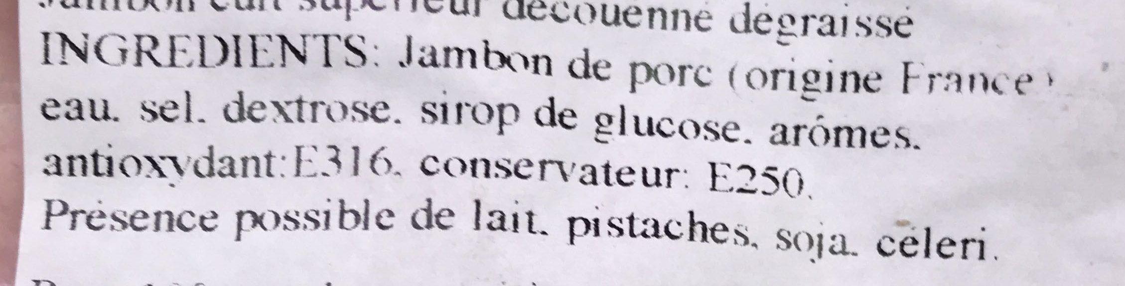Fonds de jambon supérieur - Ingrédients - fr